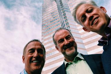 Simon Swart, Ralph Winter, Wayne Fitzjohn at Nakatomi Plaza, LA California.